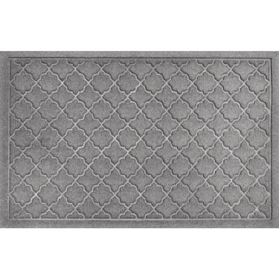 Cordova Medium Gray 23 in. x 35 in. PET Polyester Doormat