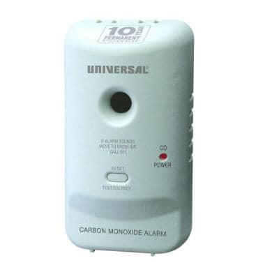 10-Year Sealed, Battery-Operated, Carbon Monoxide Detector, Microprocessor Intelligence