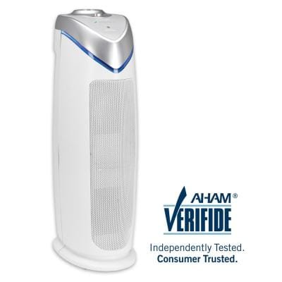 4-in-1 Air Purifier with HEPA Filter, UVC Sanitizer and Odor Reduction 22 in. Tower