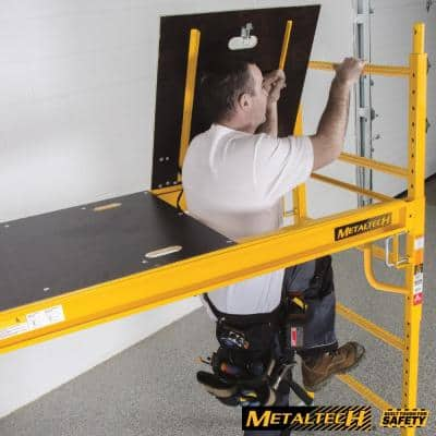 Safeclimb 6 ft. W x 6.25 ft. H x 2.5 ft. D Steel Baker Style Scaffold Rolling Platform, 1,100 lbs. Load Capacity