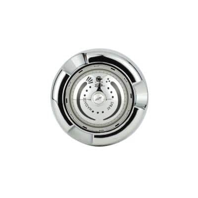 1-Spray 2.6 in. Single Wall Mount Fixed Adjustable Shower Head in Chrome