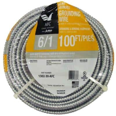 6/1 x 100 ft. Bare Armored Ground Cable