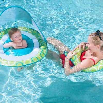 Mommy and Me Baby 9-Months to 24-Months Spring Pool Float with Canopy and Mesh Bed