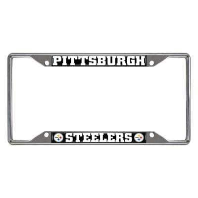 NFL - Pittsburgh Steelers Chromed Stainless Steel License Plate Frame