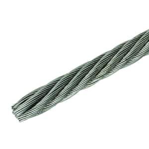 1/4 in. x 250 ft. Bright Fiber Core Steel Wire Rope