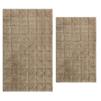 Stone 21 in. x 34 in. and 24 in. x 40 in. Summer Tile Bath Rug Set (2-Piece)