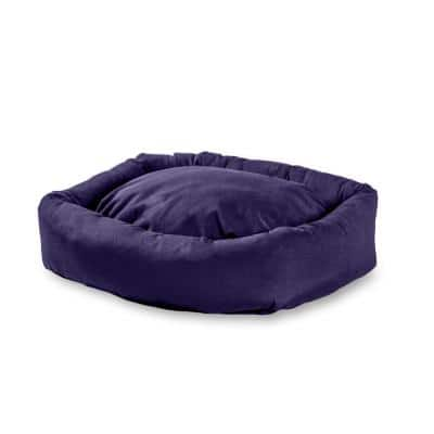 Max Large/XL Rectangle Indoor/Outdoor Navy Bumper Dog Bed