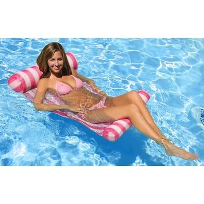 Pink Water Hammock Swimming Pool Float Lounge