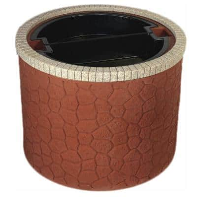 35 in. Basin Planter Septic, Well, Lawn and Garden Enclosure - Brick