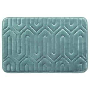 Thea Marine Blue Memory Foam Bath Mat