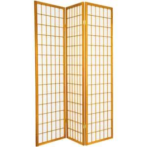 6 ft. Honey 3-Panel Room Divider