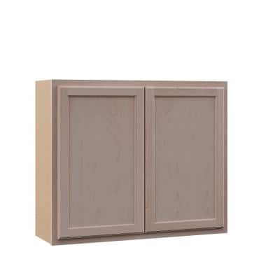 Hampton Unfinished Beech Recessed Panel Stock Assembled Wall Kitchen Cabinet (36 in. x 30 in. x 12 in.)