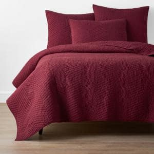 Company Cotton Claret Solid King Quilt