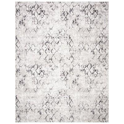 Amelia Gray/Light Gray 9 ft. x 12 ft. Abstract Area Rug
