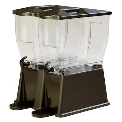 3 gal. Double Reservoir Economy Trim Polycarbonate Beverage Dispenser in Black