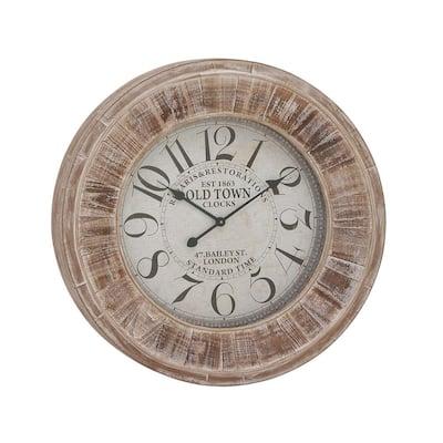 Brown Wood Vintage Wall Clock