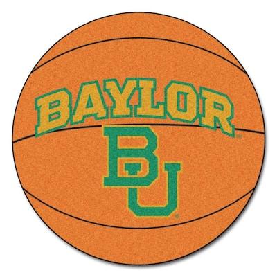 NCAA Baylor University Orange 2 ft. x 2 ft. Round Area Rug