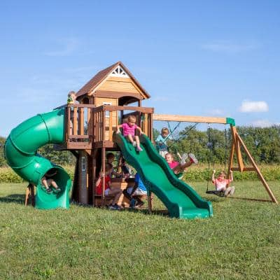 Cedar Cove All Cedar Wooden Playset