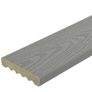 1 in. x 5-1/4 in. x 1 ft. Gray Square Edge Capped Composite Decking Board Sample