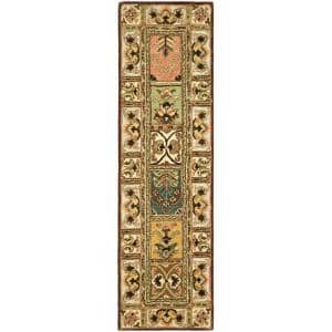 Classic Assorted 2 ft. x 12 ft. Geometric Floral Runner Rug