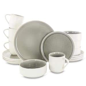 Global Edge 16-Piece Casual Gray Stoneware Dinnerware Set (Service for 4)