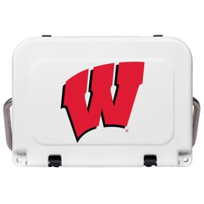 20 QT Cooler Red/White - U of Wisconsin