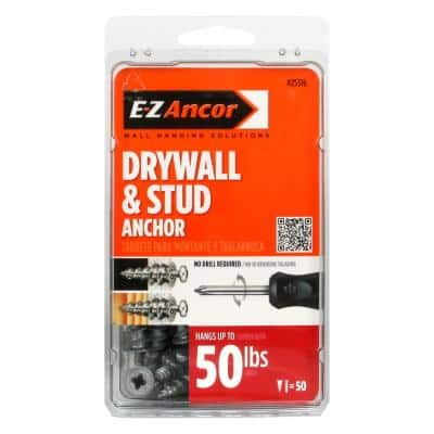 Stud Solver #7 x 1-1/4 in. Zinc-Plated Phillips Flat-Head Drywall Anchors (50-Pack)