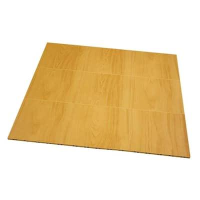 Max Tile 12 in. W x 12 in. L Maple Waterproof Interlocking Modular Basement Vinyl Floor Tiles (20 sq. ft. 20-Pack)