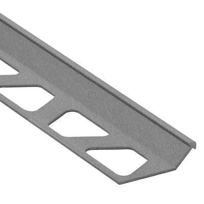 Finec Pewter Textured Aluminum 7/16 in. x 8 ft. 2-1/2 in. Metal Tile Edging Trim