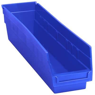 Store-More 6 in. Shelf 8 Qt. Storage Tote in Blue (20-Pack)
