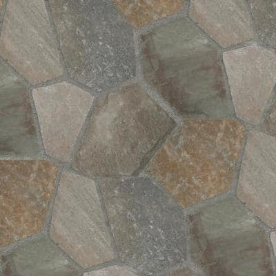 18 in. x 24 in. Rectangle Golden White Multi-Colored Meshed Flagstone Paver Tile (40-Pieces/110 sq. ft./Pallet)
