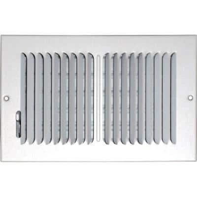 12 in. x 6 in. Ceiling/Sidewall Vent Register, White with 2-Way Deflection