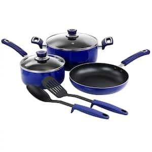 7-Piece Non Stick Aluminum Cookware Set in Blue