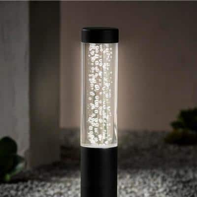 Low Voltage Black Seeded Color Changing Integrated LED Bollard Light with Remote