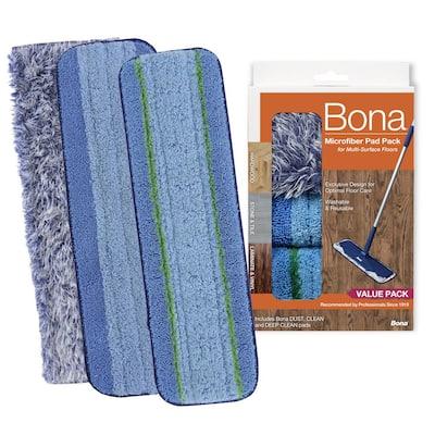 Microfiber Wet/Dry Mop Refill Pad Multipack (3-Pack)