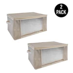2 Pack Blanket Storage Bag in Beige