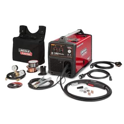 180 Amp Power MIG 180 Dual MIG Wire Feed Welder with Magnum Pro 100L Gun 115-Volt/230-Volt