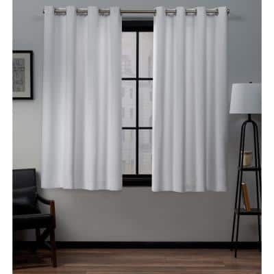 White Thermal Grommet Blackout Curtain - 52 in. W x 63 in. L (Set of 2)