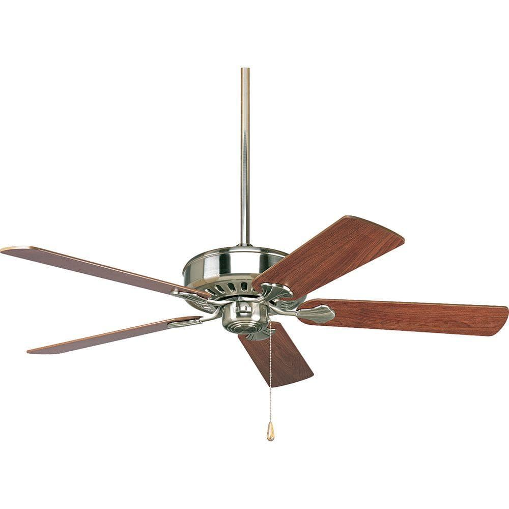 Progress Lighting Airpro Performance 52 In Indoor Brushed Nickel Ceiling Fan P2503 09 The Home Depot