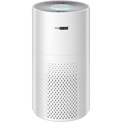 7-color Night Light Air Purifier with True HEPA and Carbon Filter