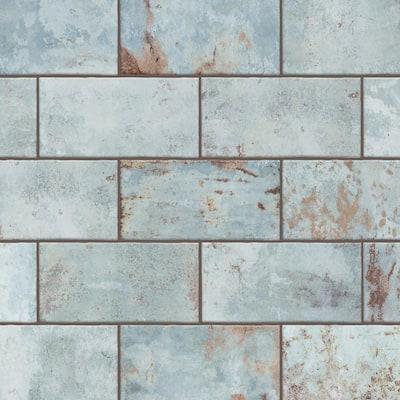Biarritz Green 3 in. x 6 in. Ceramic Wall Tile (6.04 sq. ft./ Case)
