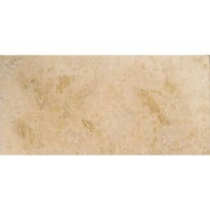 Trav Crosscut Pendio Beige Filled and Honed 12 in. x 24 in. Travertine Floor and Wall Tile (2.0 sq. ft.)