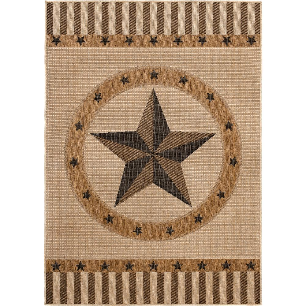lone star natural pitch 6 ft 6 in x 9 ft indoor outdoor area rug 1740ui70hd 105i the home depot