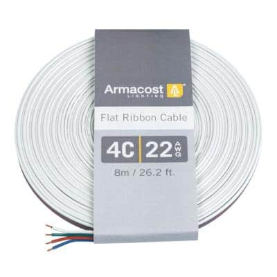 24 ft. (8 m) 22 AWG/4C Ribbon Flat Cable