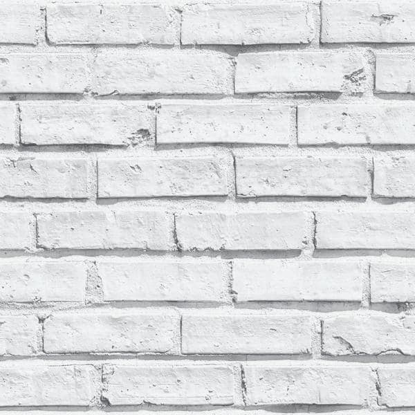 Arthouse White Brick Paper Strippable Wallpaper Covers 57 26 Sq Ft 623004 The Home Depot