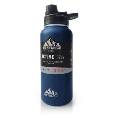 Active Chug 32 fl. oz. Navy Triple Insulated Stainless Steel Water Bottle