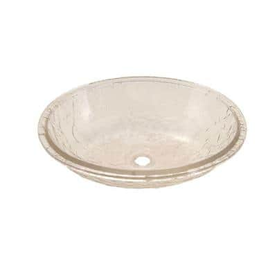Undermount Bathroom Sink in Crystal with Overflow