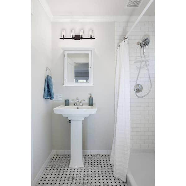 Light Vintage Bronze Bath, Vintage Bathroom Light