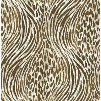 Brown & Gold Fierce Vinyl Strippable Roll (Covers 30.75 sq. ft.)