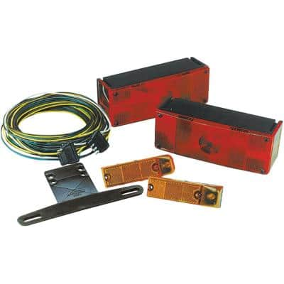 Trailer Light Kit With 25 ft. Harness, Waterproof Low - Profile Wrap - Around Over 80 in.
